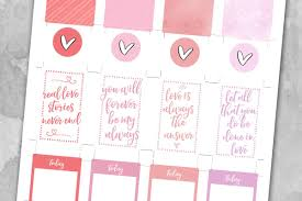 printable stickers valentines valentine s day planner stickers love paper crafts
