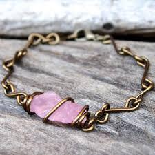 rose stone bracelet images Shop wire wrapped bracelets with stones on wanelo jpg