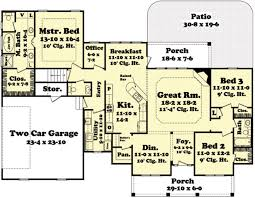 Floor Plans With Porches by Country Style House Plan 3 Beds 2 00 Baths 2100 Sq Ft Plan 430 45