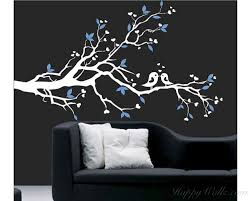 blossom branch wall decal with loving birds nursery vinyl tree