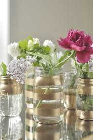 jar vases diy gold jar flower vases your homebased
