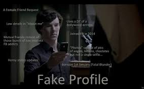 Profile Picture Memes - fake profile sherlocked funny pictures quotes memes funny