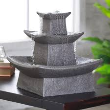 Lighted Water Fountains Outdoor by Zen Lighted Outdoor Fountain Hayneedle