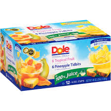 dole fruit bowls dole mixed fruit in 100 fruit juice 4 4 oz cups walmart