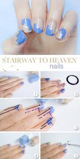 easy nail art tutorial with stripping nail tape candy crow easy