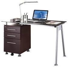 Gifts For Office Desk Tempered Glass Top Steel Frame Computer Desk Free Shipping Today