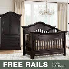 Espresso Nursery Furniture Sets by Baby Appleseed Millbury 2 Piece Nursery Set Convertible Crib And