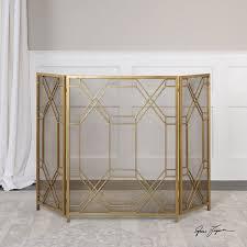 gold fireplace screen binhminh decoration
