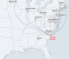 Spirit Route Map by Southern Carolina Regional Development Alliance Airports