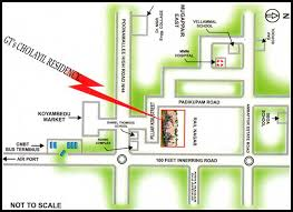 gt cus map location map gt cholayil residency chennai residential property