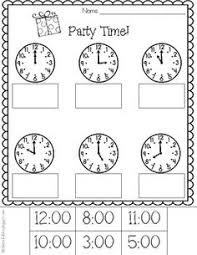15 best images of worksheets half hour print telling time