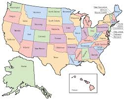 us map a printable map of the united states of america labeled with the