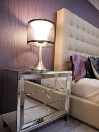 Mirrored Nightstand Delightful Modern Mirrored Nightstand With Wrapped Full Mirror