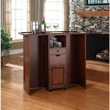 Folding Home Bar Cabinet Mobile Folding Bar In Vintage Mahogany Home Bar Design