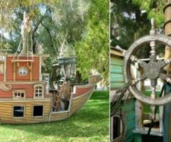 Pirate Ship Backyard Playset by Turning The Backyard Into A Playground U2013 Cool Projects Kids Will