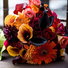 fall bridal bouquets colorful fall wedding bouquets nationtrendz
