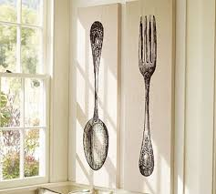 Oversized Spoon and Fork Wall Decor Tar