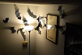 halloween decor paper bat swarm revamperate