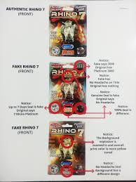 counterfeit vs original rhino 7 platinum 3000 it s not hard to