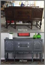 a gray buffet with a surprise on the inside hometalk