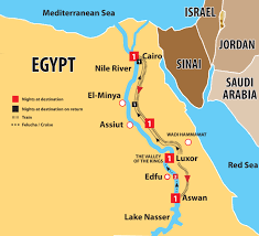nile river on map tours discover through nile cruise from cairo