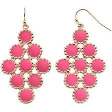 nickel free jewelry gs by gemma pink circle nickel free kite earrings polyvore