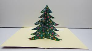 pop up card christmas tree diy paper craft christmas tree