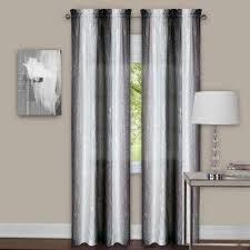 Grey And White Curtain Panels Sheer Curtains U0026 Drapes Window Treatments The Home Depot
