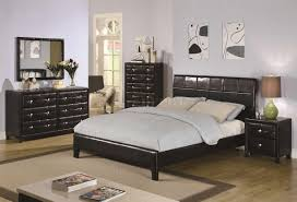 Black Lacquer Bedroom Furniture Bedroom Wonderful Black Vinyl Modern 5pc Bedroom Set Crbs 202071