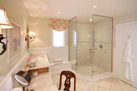 bathroom corner shower stalls with ceiling lighting and wall