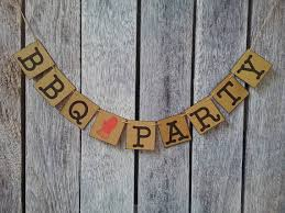 Bbq Party Decorations Bbq Banner Bbq Party Decorations Bbq Baby Shower Bbq