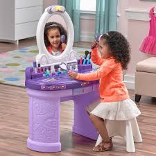 Little Girls Play Vanity Pretty U0026 Posh Vanity With Stool Retailer Exclusives Step2