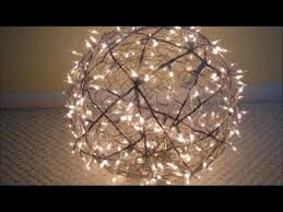 Diy Ball Chandelier Diy How To Make Giant Lighted Balls Youtube