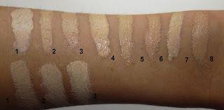palette make up atelier paris waterproof foundation swatch corrector concealer