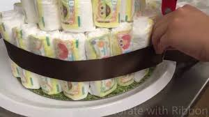 baby shower ideas diaper cake monkey theme boy theme youtube