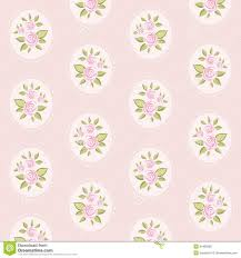 Shabby Chic Style Wallpaper by Vintage Floral Pattern Roses Shabby Chic Style Wallpaper Free