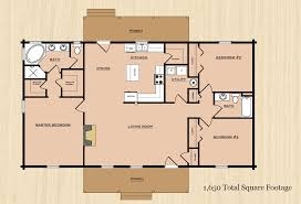 Sq Footage by Floor Plans Rp Log Homes