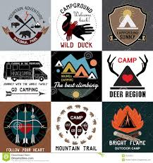 Colorado travel symbols images Set of vintage camping logos symbols of the national park and jpg