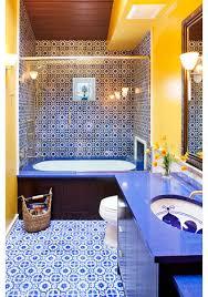 blue and yellow bathroom ideas mediterranean bathroom by susan e brown interior design blue and