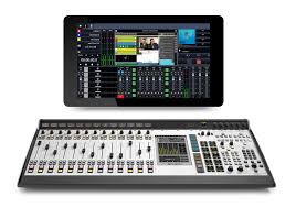 Producer Studio Desk by Axia Fusion Aoip Mixing Console