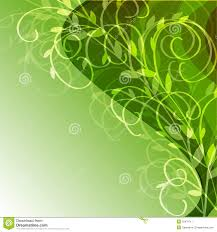 green background with floral ornament stock vector image 25470717