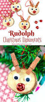 easy to make rudolph christmas ornaments kids will love handmade