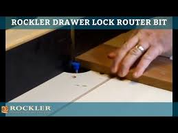 Kitchen Cabinet Router Bits 1 U0027 U0027 Drawer Lock Router Bit Rockler Woodworking And Hardware