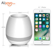 smart touch music bluetooth speaker flower pots musical speakers