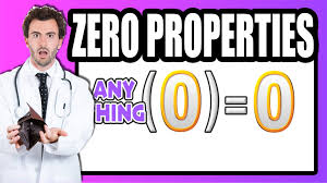 Identity Property Of Multiplication Worksheets The Properties Of Zero Youtube