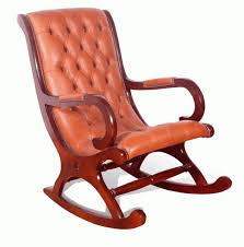 Vintage Rocking Chairs Vintage Rocking Chair With Leather Cushion U2013 Plushemisphere
