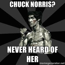 Chuck Norris Meme Generator - chuck norris never heard of her bruce lee figther meme