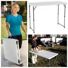 4 foot adjustable height table lifetime 4 foot adjustable height folding utility table 2970 folding