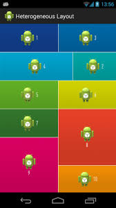 grid layout for android android гетерогенный gridlayout qaru