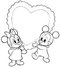 Disney Babies Coloring Pages Baby Mickey Heart Coloring Pages Disney Princess Ariel Coloring Pages